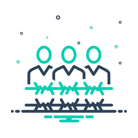 Icon for frontier,border Illustration