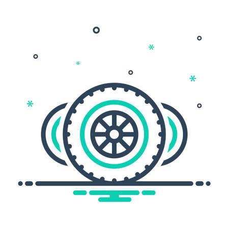 Icon for wheels,automobile