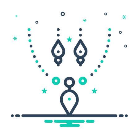 Icon for jewellery,fashion Illustration