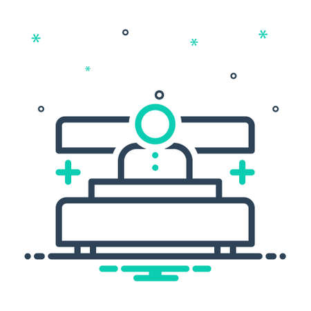 Icon for admit,patient Illustration