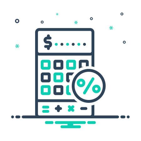 Icon for vat,tax Illustration