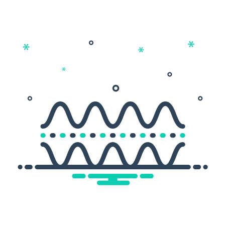 Icon for frequencies,audio Illustration