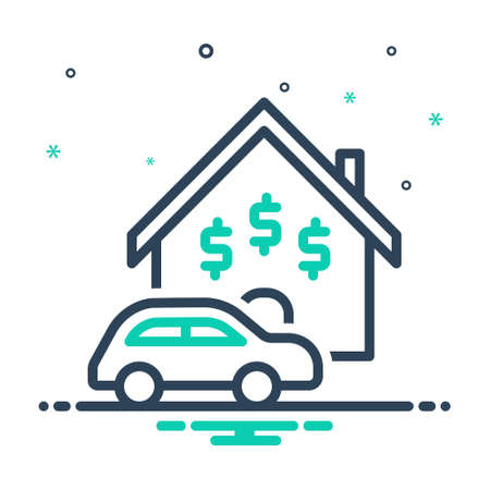 Icon for assets,property Illustration