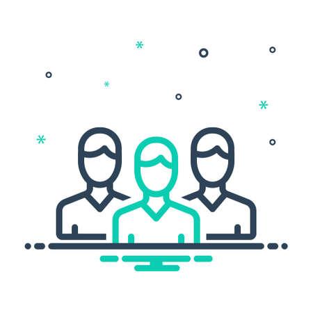 Icon for peers,associate Illustration