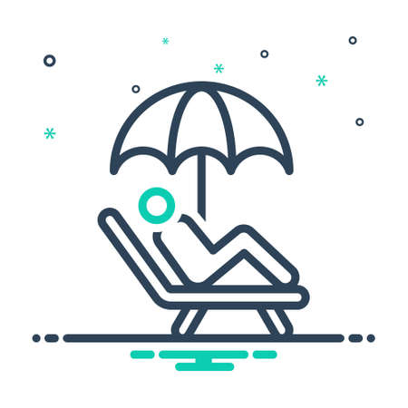 Icon for ease,comfort Illustration