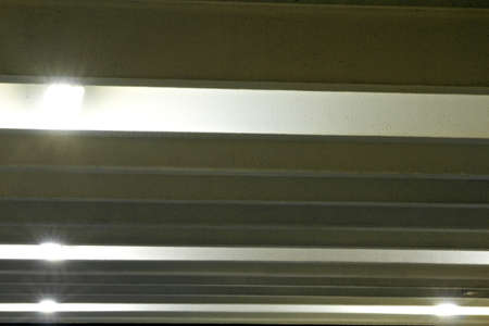 A detail of a car parking lot for residents, pictured in the night