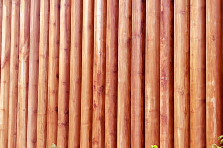 Wooden Booth delimiting access from public area to private area. Stock Photo