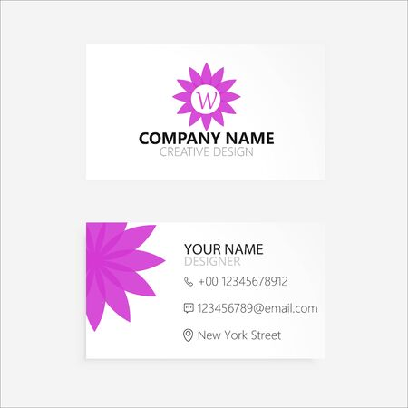 Abstract Flower Business Card Çizim