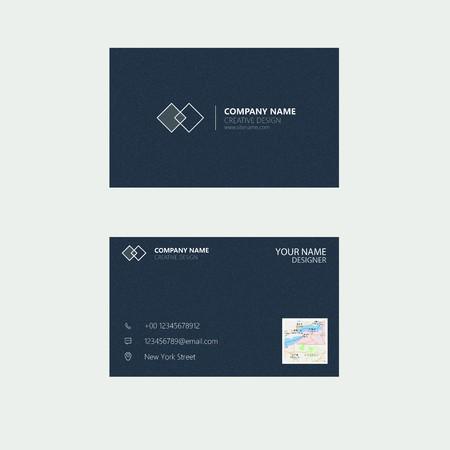 Simple Business Card Ilustracja