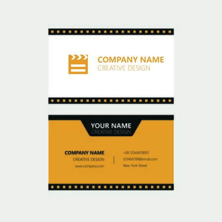 Movie Business Card Illusztráció
