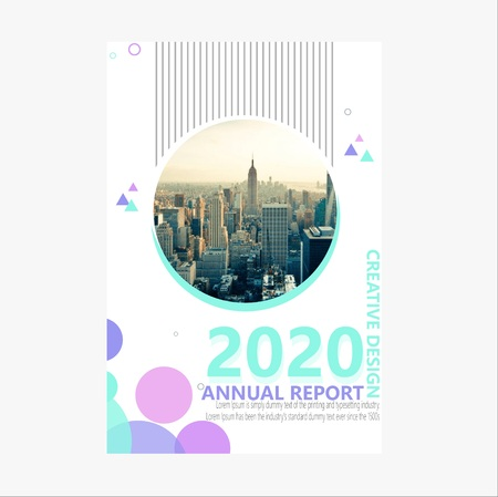 Elegante jaarverslagbrochure Stock Illustratie