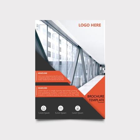 professional report brochure cover royalty free cliparts vectors