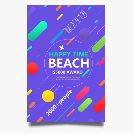 Beach Party Flyer Иллюстрация