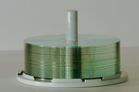stack of cds Stock Photo