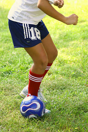 soccer ball stance Stock Photo