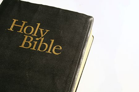 holy bible on white background 写真素材