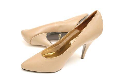 tan high heel shoes Stock Photo - 751735