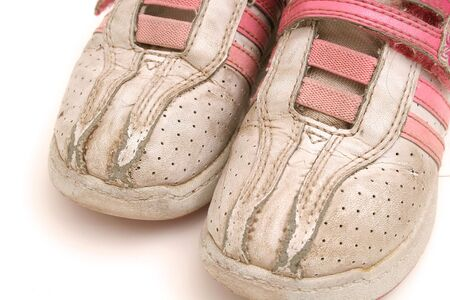 kids dirty tennis shoes upclose Stock Photo - 751737