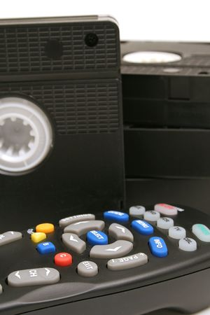 remote control vhs tapes background vertical photo
