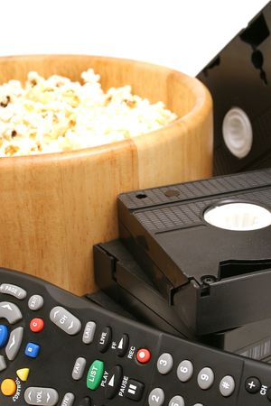 popcorn & video wremote control vhs vertical photo