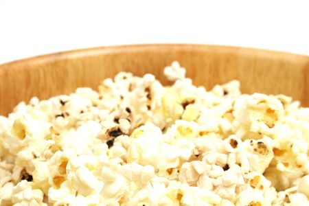 half bowl of popcorn