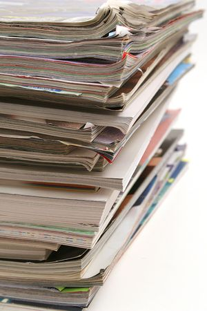 stack of magazines vertical Imagens