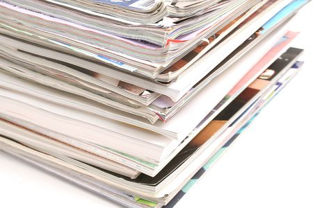 Assorted magazines Imagens - 755890