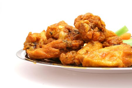 chicken wings on white