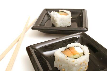 smoked salmon sushi photo