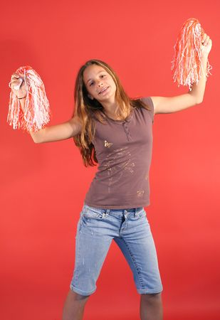 cheerleader vertical straight