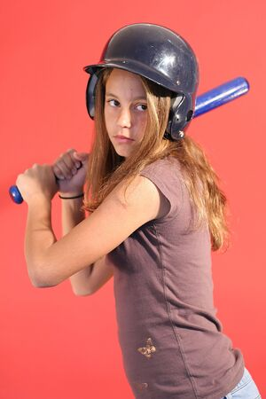 baseball girl vertical photo