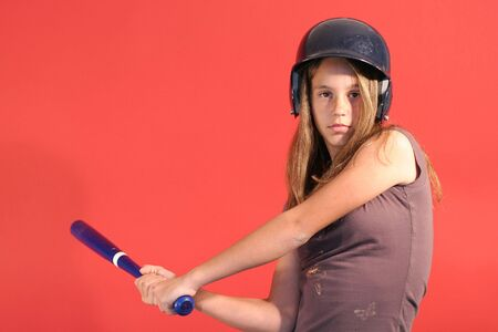 baseball girl    photo