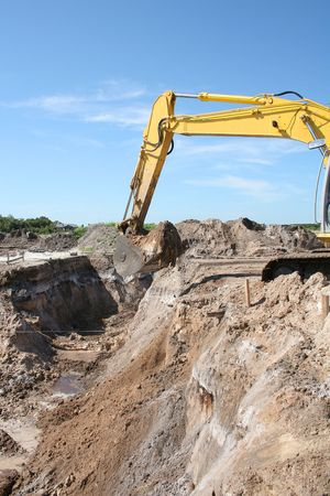 earth moving: earth moving equipment Stock Photo