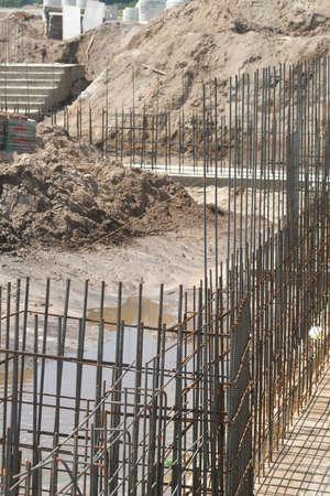 rebar: rebar on construction site vertical