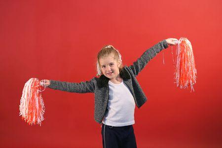 little girl cheerleader Stock Photo - 1769491
