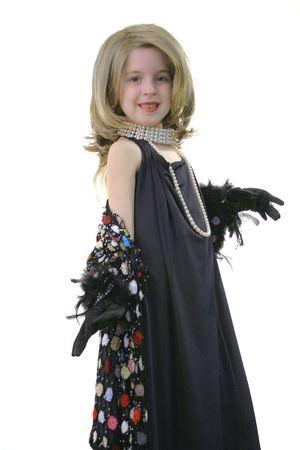 little girl diva  Фото со стока
