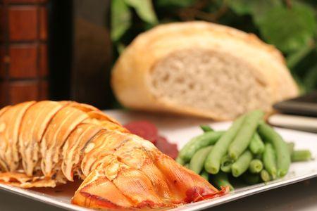 Gourmet Lobster dinner Stock Photo - 1975560
