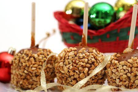 Holiday caramel apples  Imagens