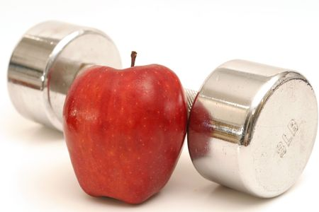 fitness weight & apple photo