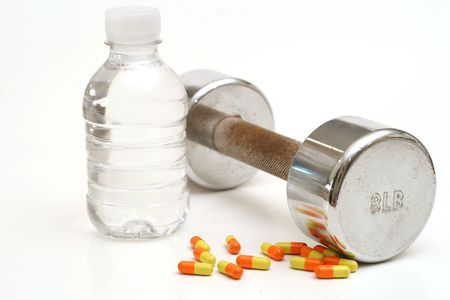 Bottled water with fitness weight & vitamins