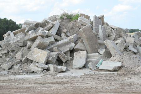 pile of rubble - construction debris