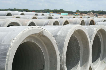 cement pile: sewer pipes - drainage