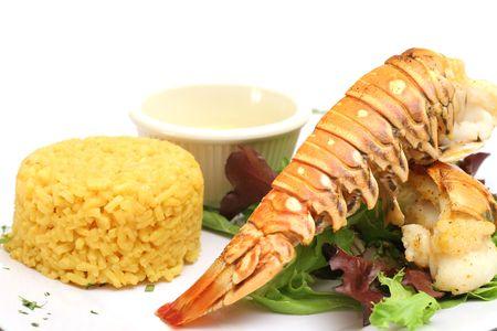 lobster dinner: Lobster dinner Stock Photo