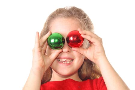 kid christmas ornament eyes  photo