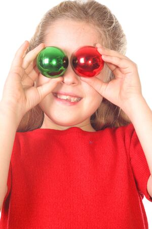 kid christmas ornament eyes vertical photo