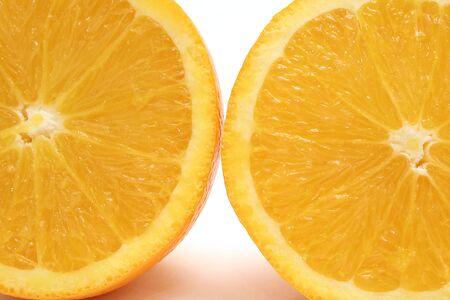 orange halves upclose