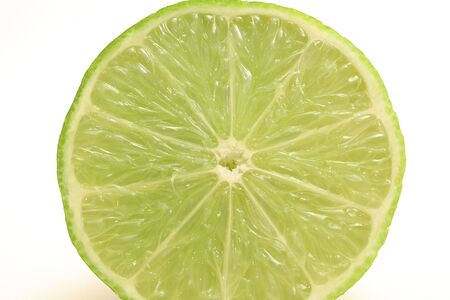 upclose: single cut lime upclose Stock Photo