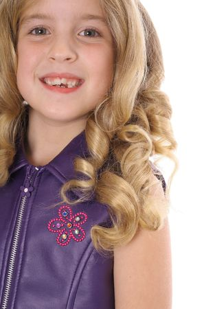 curls: little blonde curls headshot