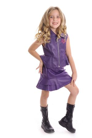 pre adolescents: gorgeous little girl modeling Stock Photo