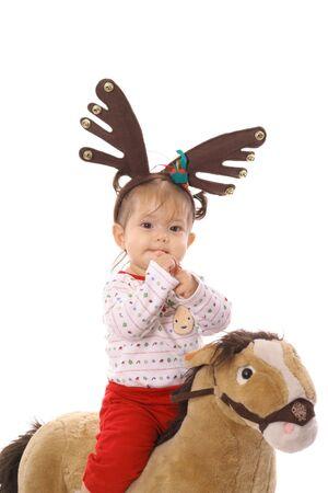 cute  on pony photo